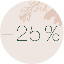 25% off for two